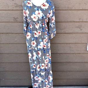 Orange Creek LA striped floral maxi dress!